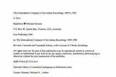 The Gramophone Company's First Indian Recordings, 1899 to 1907